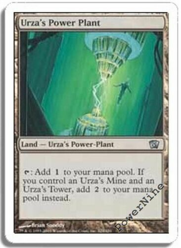 4 PLAYED Urza/'s Power Plant Land Eighth 8th Edition Mtg Magic Uncommon 4x x4