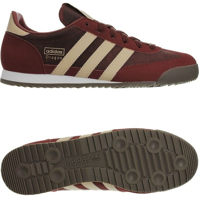 9b64b0434b Adidas Dragon dark red men's low-top sneakers leather trainers casual shoes  NEW