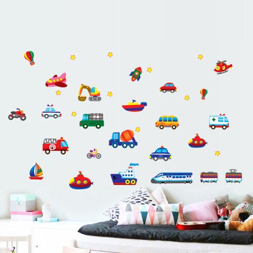 Cartoon Car Airplane Train Nursery Wall Sticker Child Kids Room Decal Hot Sale