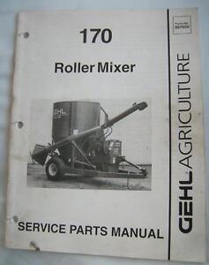 GEHL-170-ROLLER-MIXER-Service-Parts-Manual-1993