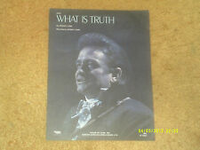 Johnny Cash sheet music What Is Truth 1970 4 pages (VG+ shape)