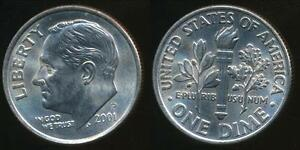 United-States-2001-P-Dime-Roosevelt-Uncirculated