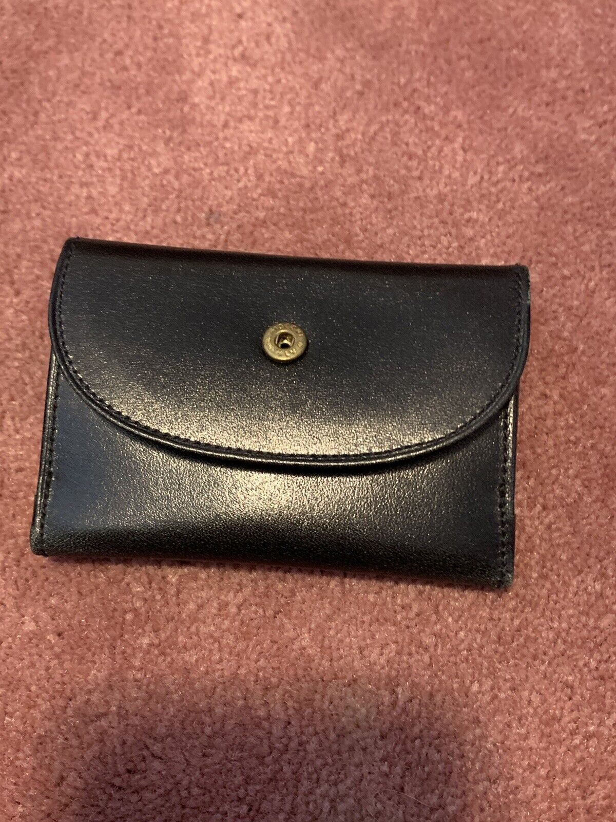 NEW Vintage MARK CROSS - BLACK LEATHER - Bill Coin Wallet - Made in Italy