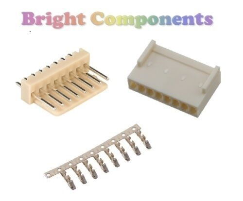 "Molex KK Style 0.1/"" PCB Connector Kit 1st CLASS POST 5x 8-Way 2.54mm"