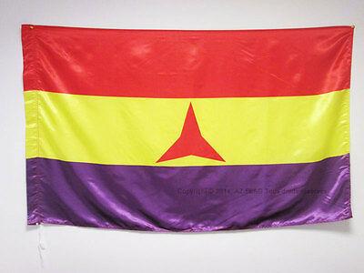 INTERNATIONAL BRIGADES SPANISH REPUBLIC FLAG 3' x 5' in SATIN for a pole - SPAIN