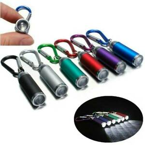 Mini-LED-Flashlight-Camping-Small-Compact-Portable-Keyring-Carabiner-6-Colors-J1