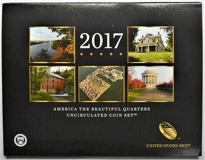 2017-P//D United States Mint America the Beautiful Quarter Uncirculated Set Unc
