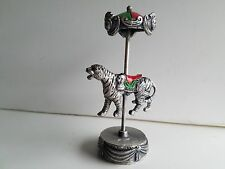 WHOLESALE...Painted Pewter Tiger Carousel (Lot of 5)