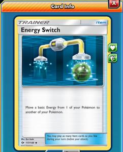 Pokemon TCG ONLINE x4 Energy Switch 117/149 (DIGITAL CARD) Trainer Item