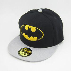 Image is loading New-batman-hiphop-Black-Grey-Snapback-Adjustable-baseball- 10ddaf90bc9a