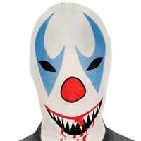 Clown Morph Mask Spandex Tight Scary Evil Costume Full Face Pennywise It
