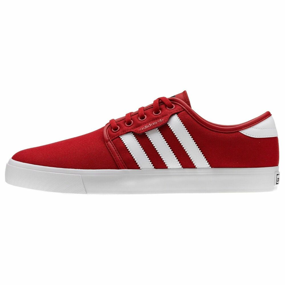 Adidas SEELEY rouge blanc noir Skate Casual Sneakers G66638 (222) homme chaussures