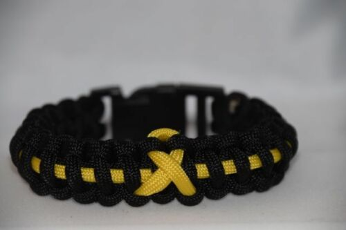Custom Cobra Bracelet 550 Outdoor Survival Paracord Bone Cancer Awareness