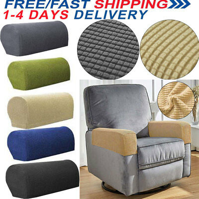 2 Pair Removable Arm Stretch Sofa Couch Chair Protector