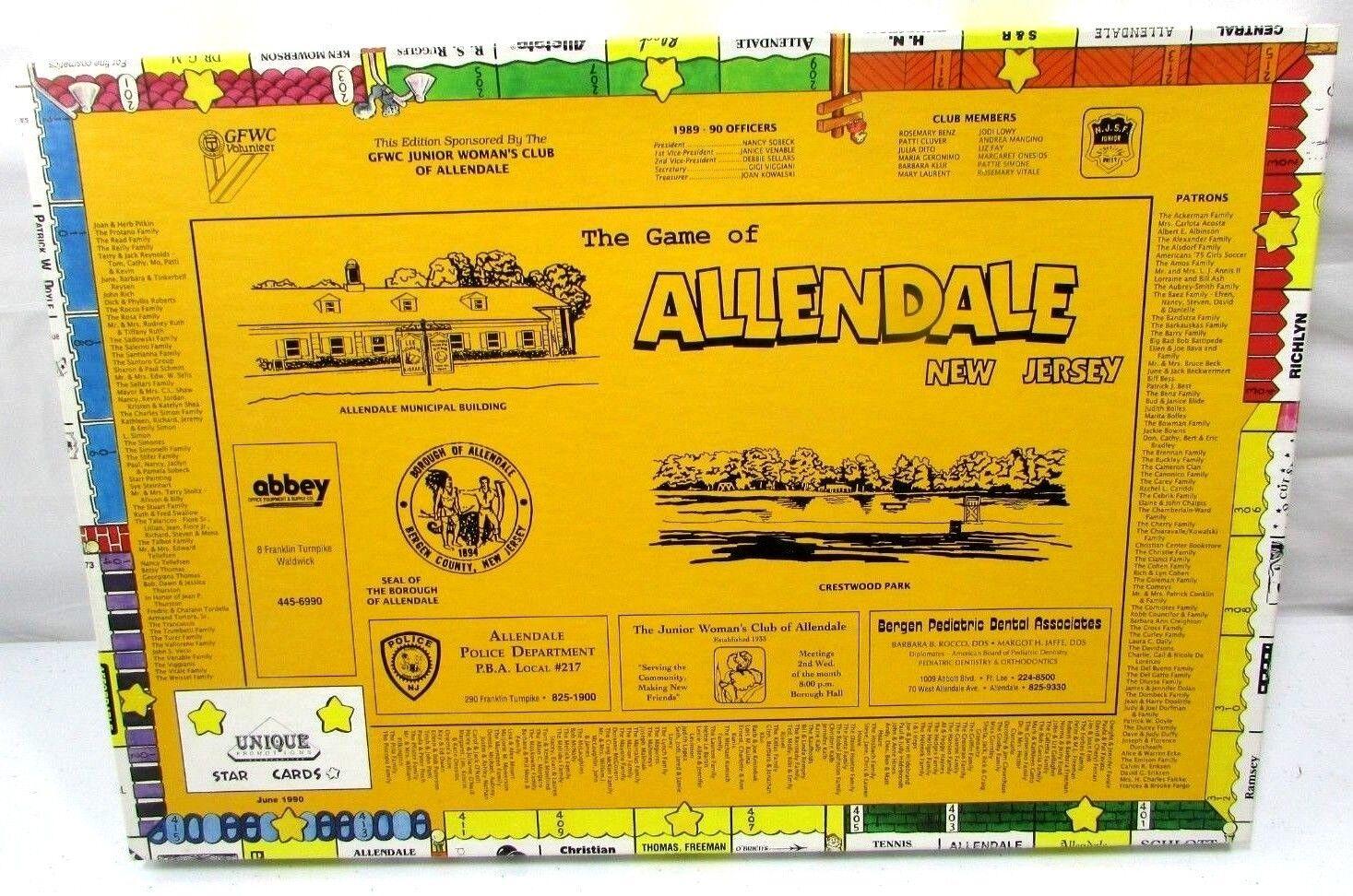Einmalige aktionen allendale new jersey 1990 monopol stil brettspiel selten neue