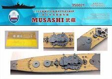Shipyard 1/350 350021 Wood Deck IJN Musashi for Tamiya
