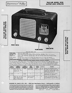 Ler Diagram | 1948 Trav Ler 5028 Radio Service Manual Photofact Schematic Diagram
