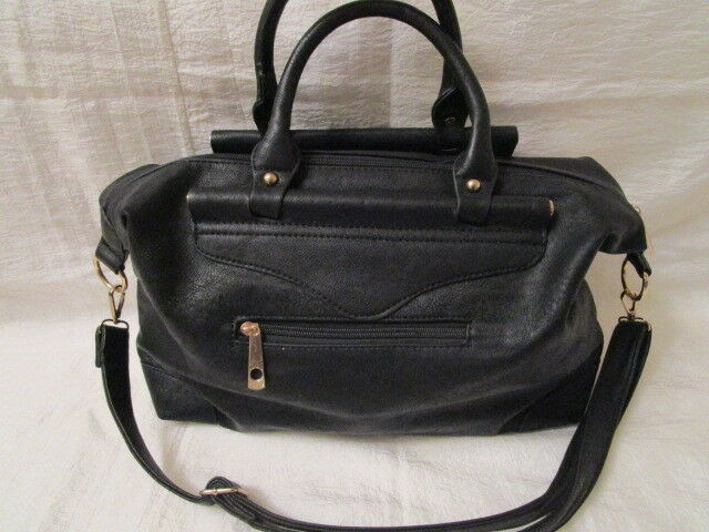Damen Tasche Shopper Schwarz groß groß groß 38 13 25 cm 2 Henkel Kunstleder c666c7