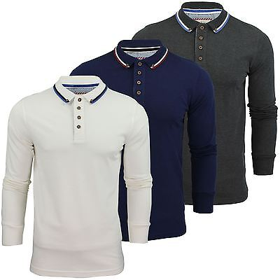 Mens Polo Shirt by Brave Soul Long Sleeved