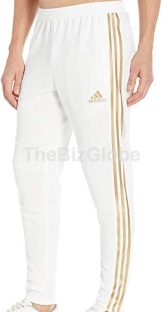Adidas Men's Tiro 19 Soccer Training Pants Climacool WhiteGold Metallic