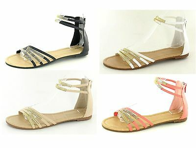 F0706- Ladies Savannah Strappy Sandals 2 Colours- Coral&Black
