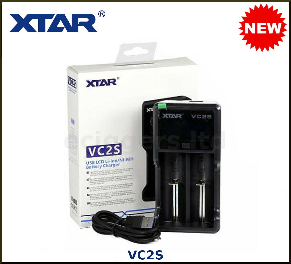 AUTHENTIC XTAR VC2S Battery Charger - FAST CHARGING - UK Stock