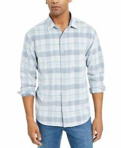 Tommy-Bahama-Mens-Shirt-Blue-Size-Medium-M-Button-Down-Corduroy-Plaid-125-039