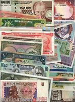 100 DIFFERENT BANKNOTE from 100 ALL DIFFERENT COUNTRIES CURRENCY NOTE COLLECTION