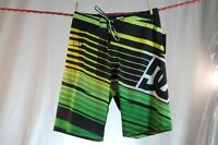 Dc Shoes Multi-color Stripe Swim/surf/board Shorts Size 28