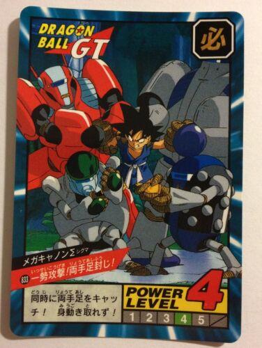 Dragon ball GT Super battle Power Level 833