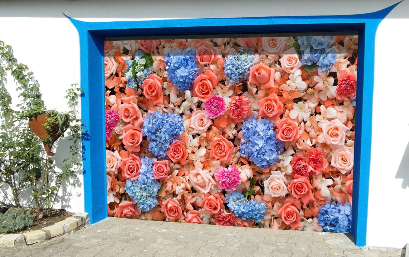 3D Pretty roses 99 Garage Door Murals Wall Print Decal Wall Deco AJ WALLPAPER UK