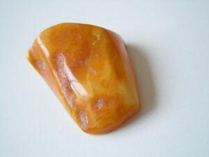 Edelsteine Fossilien Flight Tracker Natur Bernstein Butterscotch Poliert Anhänger Mit Lochung 8,4 G Genuine Amber