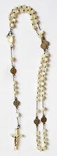 Chapelet du 19e siècle en nacre et argent rosaire rosary mother of pearl