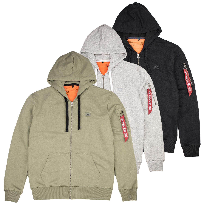 Alpha Industries Zip Hoody Hoodie X-Fit Kapuze Pullover Sweater S M L XL XXL 3XL