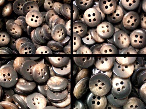 Pequeño 9mm 10mm 11mm 12mm Bebé Camisa Marrón Chocolate a mediados de 4 botones de agujero W58-61x