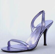 YSL YVES SAINT LAURENT ANACONDA Violet MIROIR Patent Leather Pump Sandals sz 41