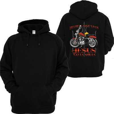 Felpa Con Cappuccio Vintage Nero Hd Biker Chopper & Oldschoolmotiv Sporty-irt Schwarz Vintage Hd Biker Chopper&oldschoolmotiv Sporty It-it Mostra Il Titolo Originale