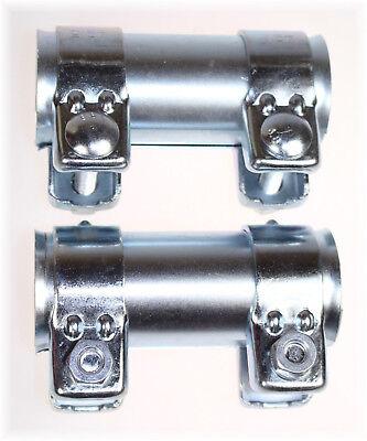 Rohrverbinder für Ø 46mm Auspuffrohr Länge 90mm verzinkt