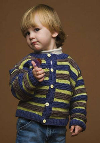 unisex 4 misure 2-8ys Knitting Pattern-Baby PO105 Cardigan