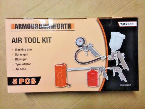 Luftdruck System neu Air Tool Kit Armour /& Danforth Lackierpistole ovp