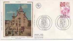 FRANCE-1976-F-D-C-SOIE-USSEL-HOTEL-DES-DUCS-DE-VENTADOUR-OBLIT-LE-10-7-76-USSEL