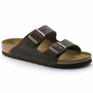 Birkenstock-Arizona-Classic-Sandals-Waxy-Leather-Habana-Brown