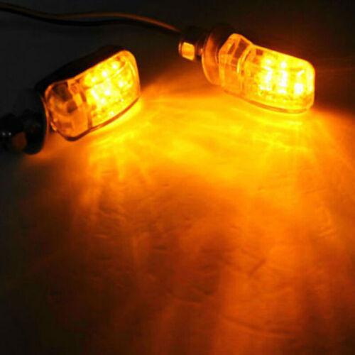 12V LED Motorcycle Passing Driving Spot Fog Lamp Turn Signal Light For 6mm Bolts