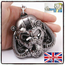 NEW Fallout  Pip Boy Logo Power Armor Mask Keychain Keyring Vault *UK STOCK