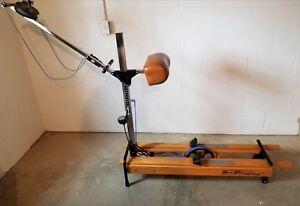 Nordictrack 505 Ski Machine Exercise Fitness Vtg Nordic Track Wooden With Meter Ebay