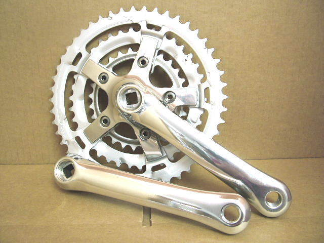 NOS Shimano Comfort Series Crankset w 170mm Crankarms and 48x38x28  Chainrings  simple and generous design