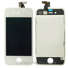 iPhone 4S White LCD Display Touch Screen Digitizer Assembly Replacement w/ Frame