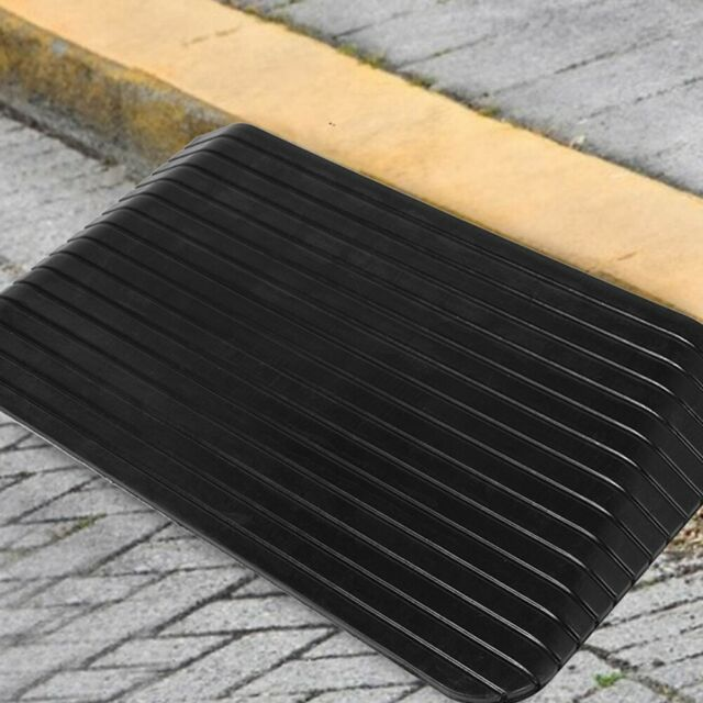 pentagon 1PCS Portable Curb Ramp Rubber Kerb Ramps Cars Heavy Duty Plastic Threshold Ramp Kit Set for Driveway Wheelchair Mobility Bike Motorcycle Car Loading Dock Truck Scooter Sidewalk