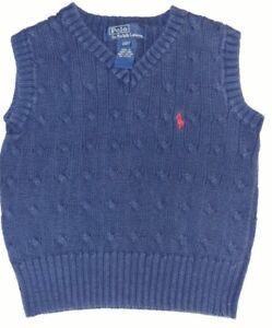 Ralph-Lauren-Polo-Blue-Sweater-Vest-Size-2T