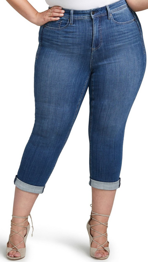 NEW CURVES 360 by NYDJ slim straight crop jeans  99